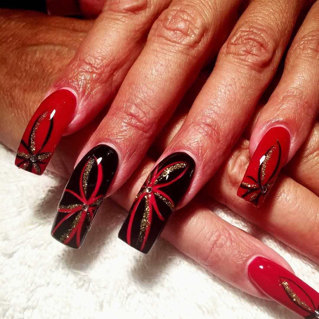 Black Red Nail Art Designs Design Trends