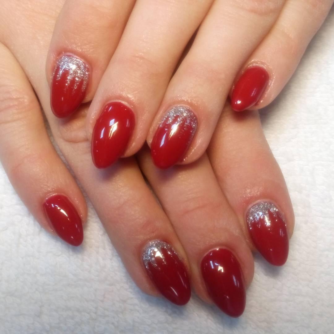 Silver Nail Art Designs: 26+ Red And Silver Glitter Nail Art Designs , Ideas