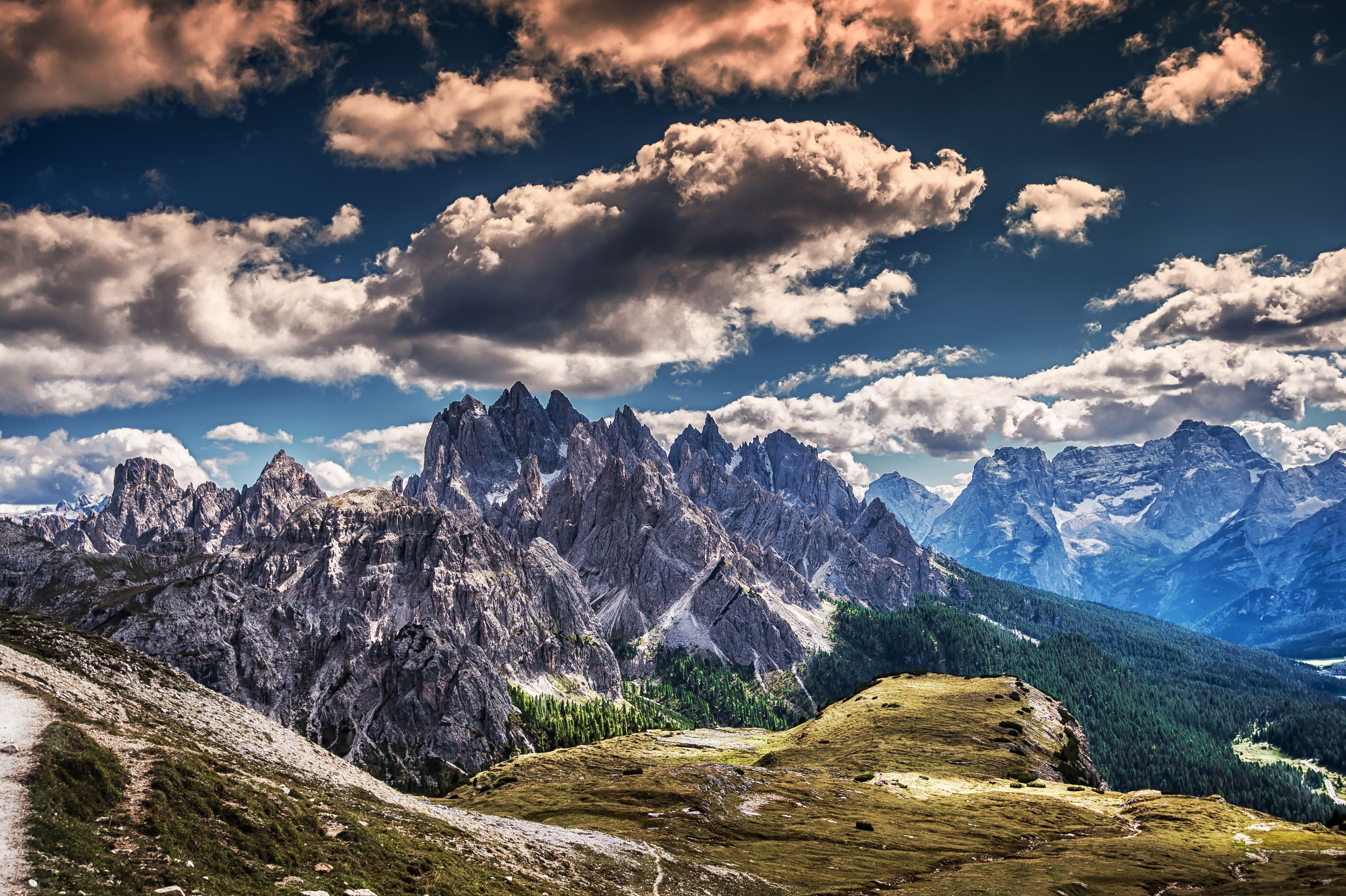 природа небо облака горы скалы  № 514768 бесплатно
