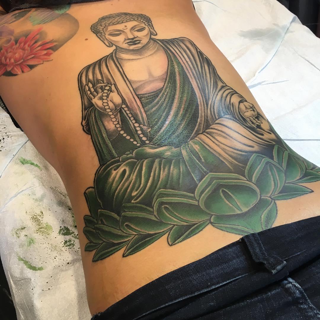 Lotus Flower With Buddha Tattoo Flowers Gallery