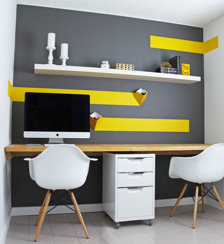 20 small office designs decorating ideas design trends for Trendy office design