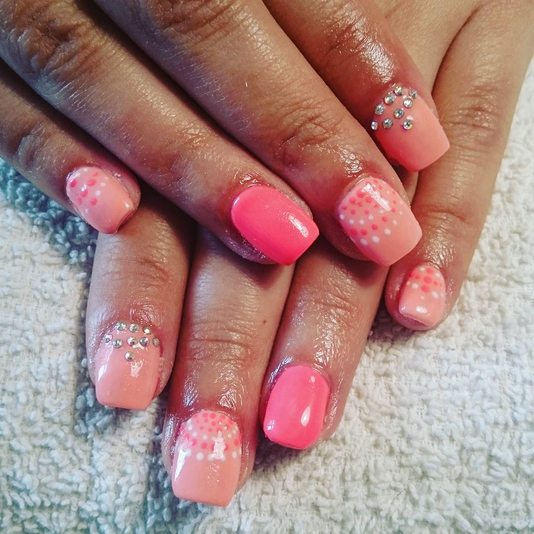 Nail Designs For Round Tip : Peach nail art designs ideas design trends
