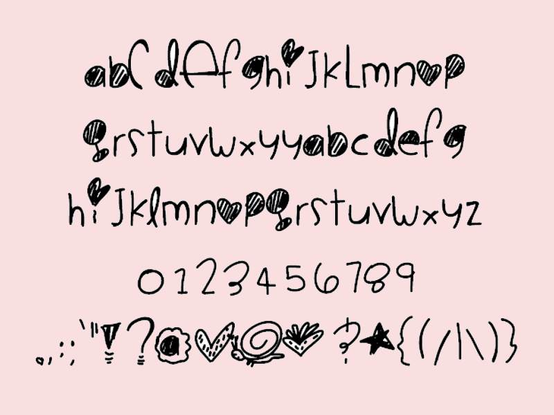 Cute Bubble Fonts Alphabet Hiatus Sample