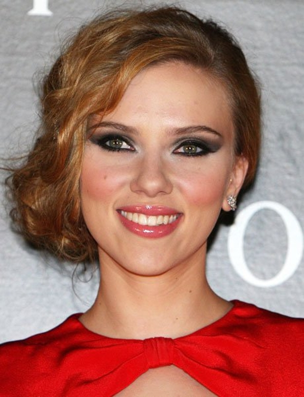 prom awesome red dress makeup for scarlett johansson eye