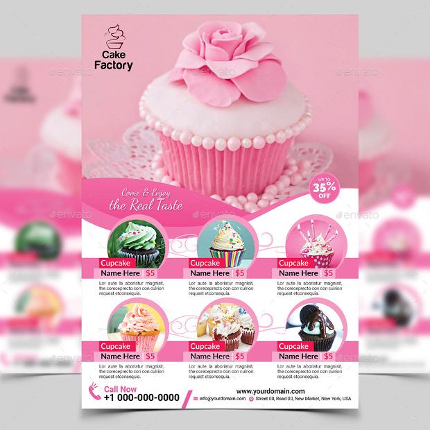 20 Cupcake Flyer Design Psd Download Design Trends