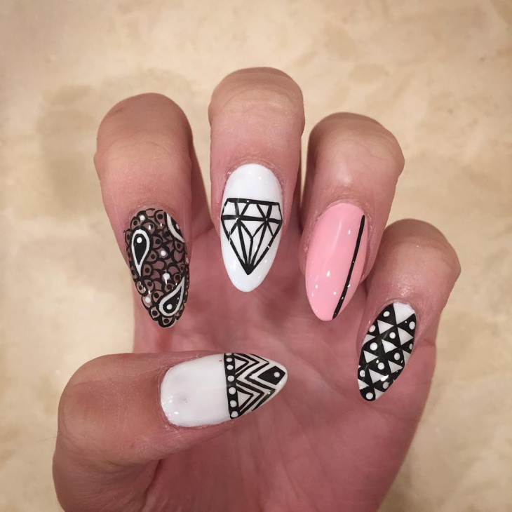 The Easiest Sticker Manicure pics