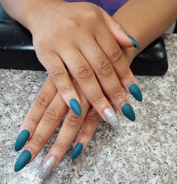 Similiar Blue And Silver Nails Prom Keywords