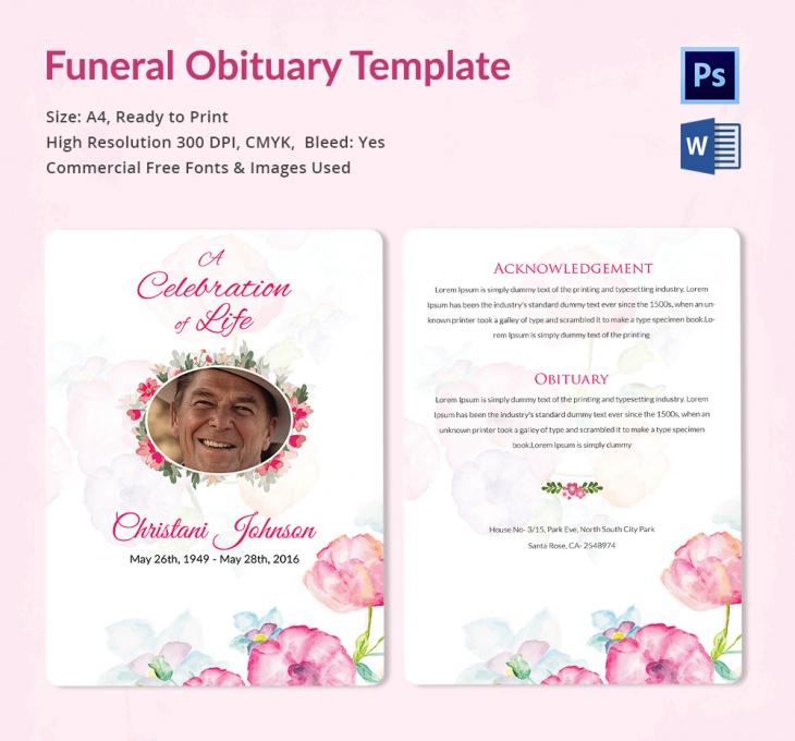 Free Obituary Templates 20 Free Business Templates Oukasfo
