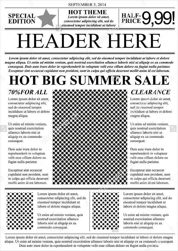 Similiar Old Newspaper Flyer Template Keywords