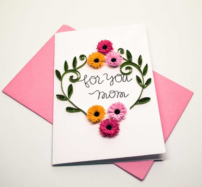 Украшения для открытки для мамы