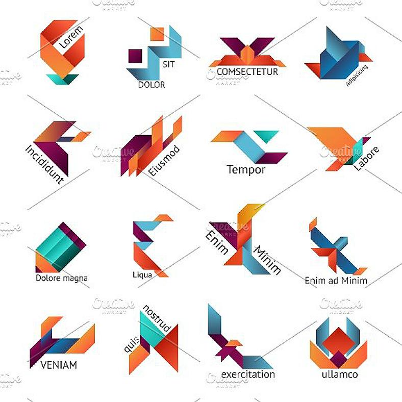 Логотипы в стиле оригами