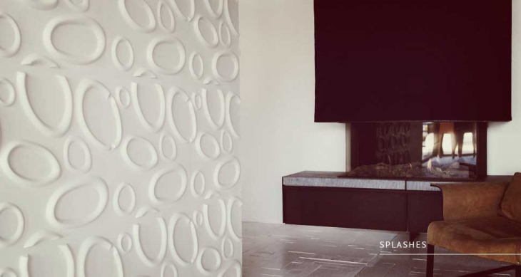 3d wall splash design