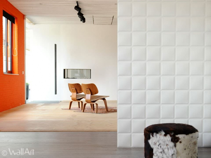 cube 3d wall tile idea