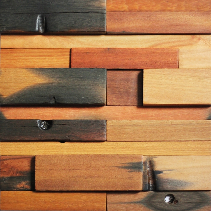 wood wall tile design