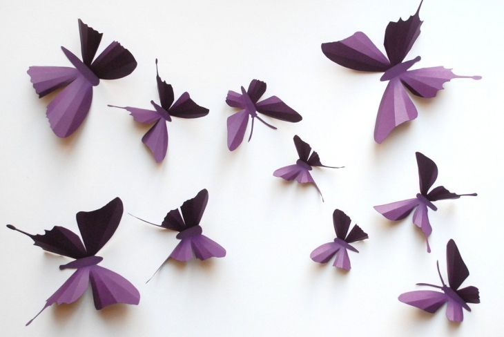 3d paper butterfly sticker