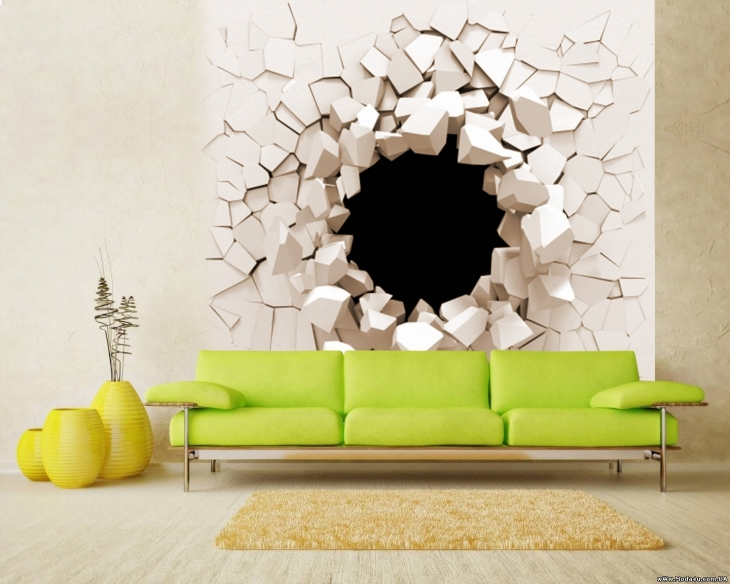 Living Room Wall Mural Decal  sc 1 st  designtrends & 20+ 3D Wall Art Designs Decor Ideas | Design Trends - Premium PSD ...