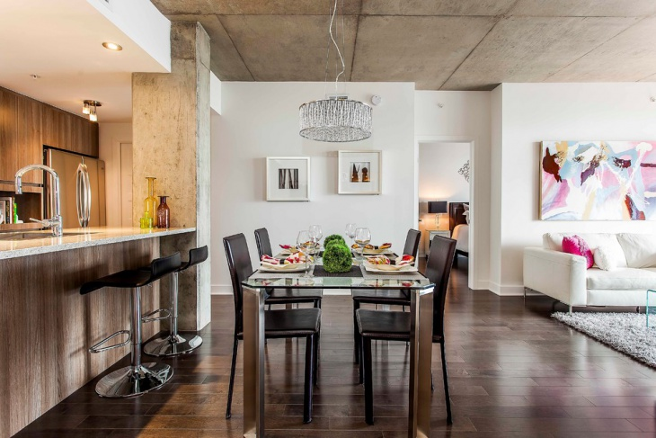 Modern Urban Dining Room Idea