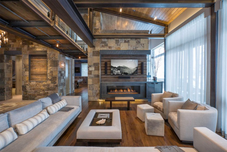 Rustic Family Living Room Idea