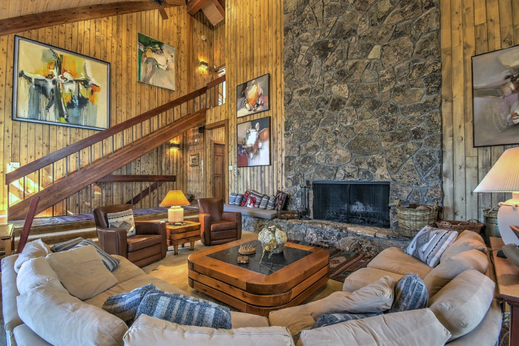 Family Room Stone Rustic Texture