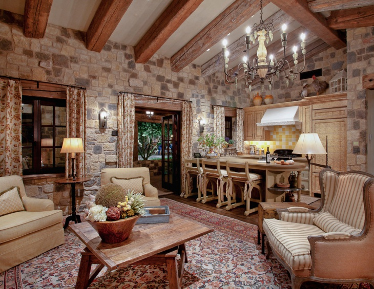 19+ Rustic Living Room Designs, Decorating Ideas | Design Trends ...