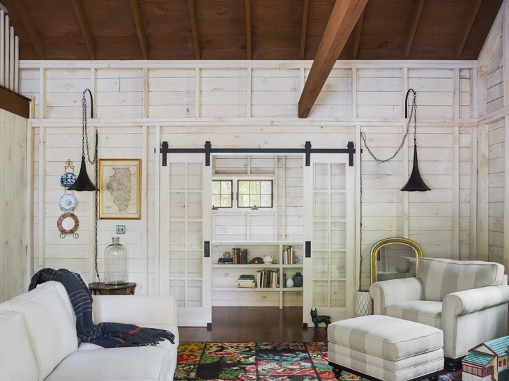 Vintage White Wooden Rustic Room
