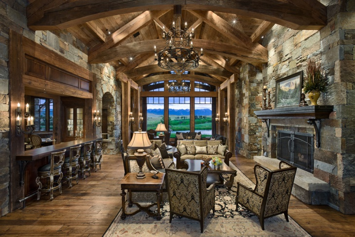 Traditional Rustic Living Room Design