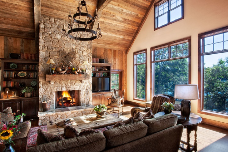 Stone Wall Panel Living Room Decor