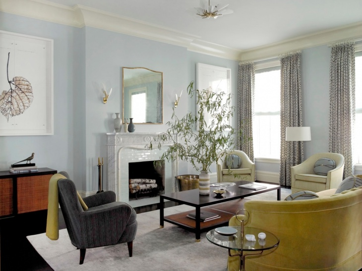 classic blue living room design