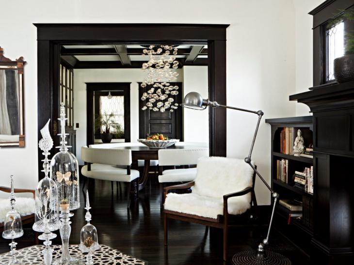 Classy Black Living Room Design