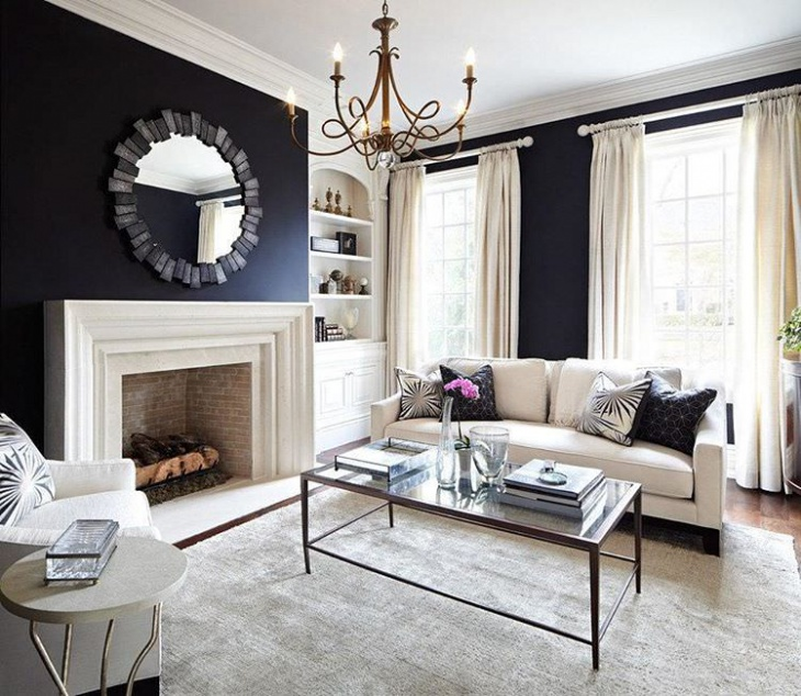 Simple Black Living Room Design