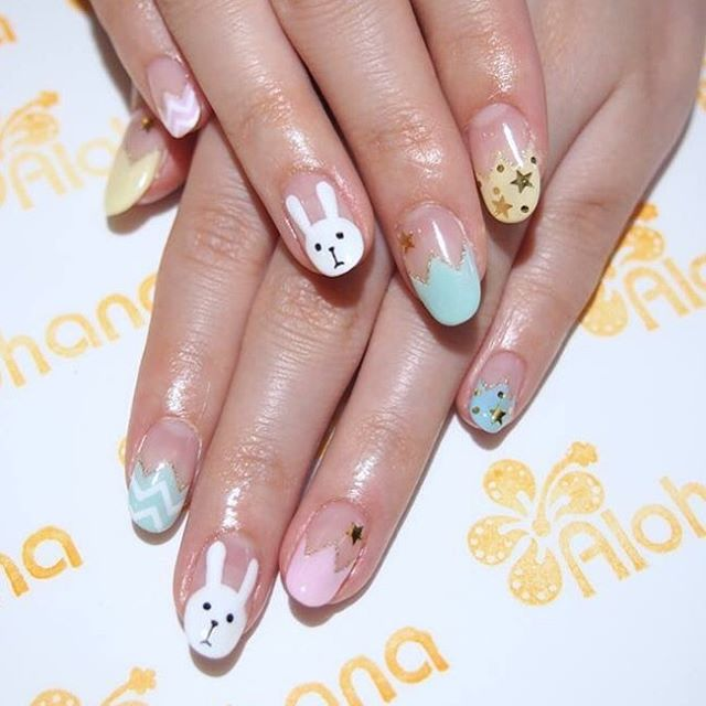 Cute Nail Art Design of Easter