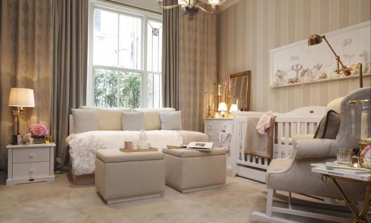 pink nursery room idea