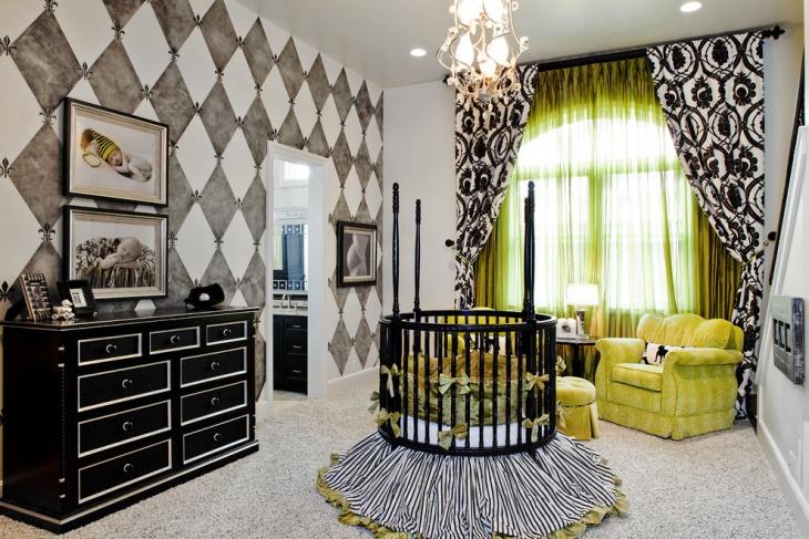 Baby Room Black Storage Unit