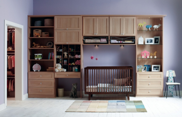 Baby Nursery Wall Storage Unit