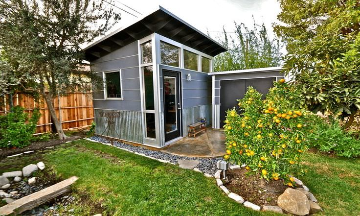 Pitched Contemporary Garden Shed And Building Design