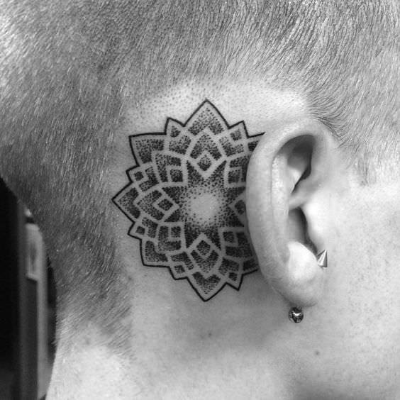 Ear Mandala Tattoo Design