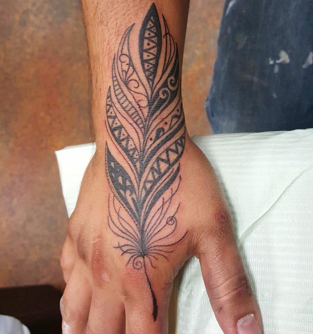Mandala Feather Tattoo