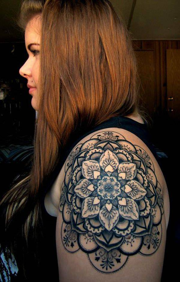 Mandala Tattoo Design As Quarter