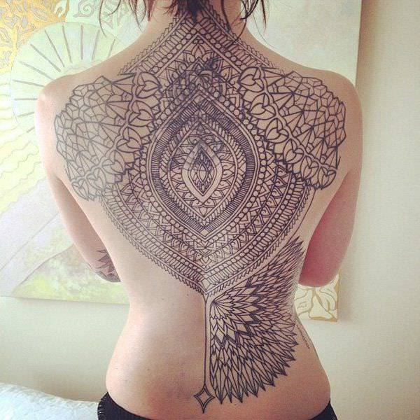 Mandala Tattoo Design On Back