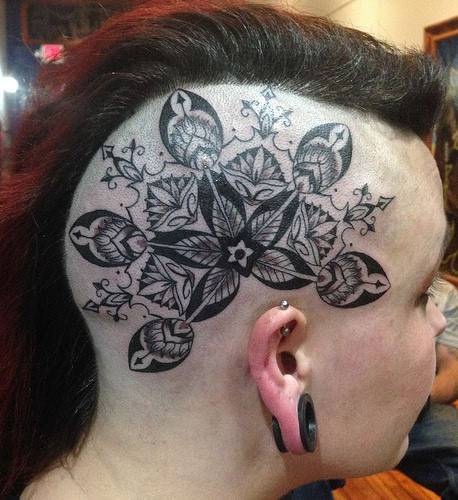 Mandala Tattoo Design On Head As Off