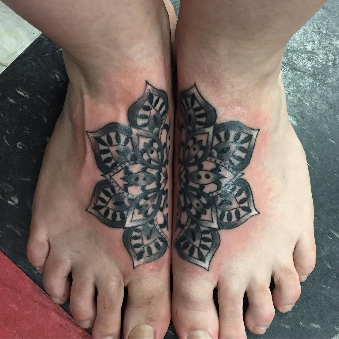Mandala Tattoo Design On Legs