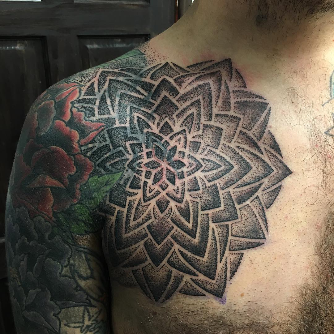 Mandala Tattoo Design On Right Hand