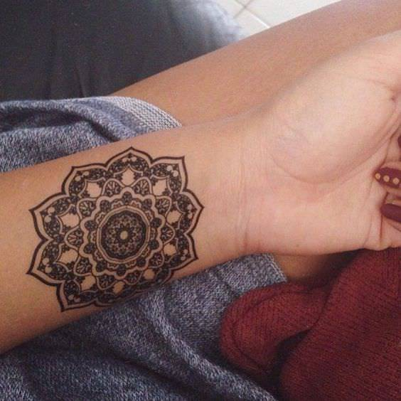Mandala Tattoo Design on Left Hand