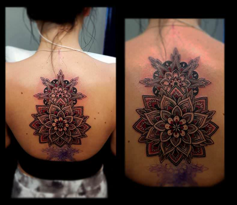 Mandala Tattoo on Black