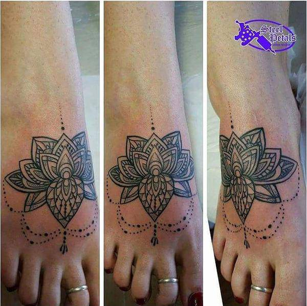 Mandala Tattoo on Foot