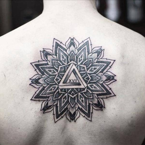 Small Mandala Tattoo on Back