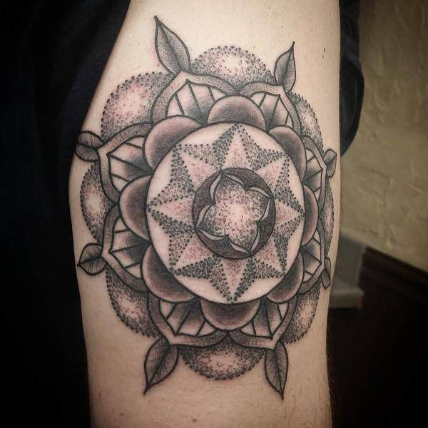Small Mandala Tattoo on Hand