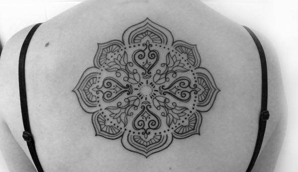 Tribal Mandala Tattoo on Back