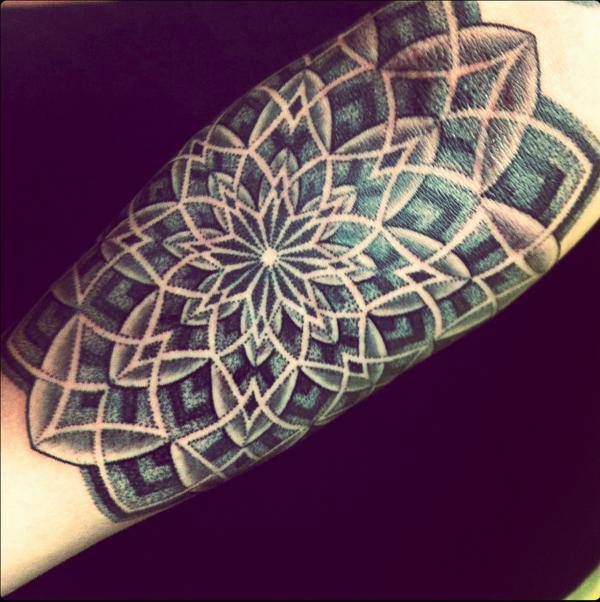 Tribal Mandala Tattoo on Sleeve
