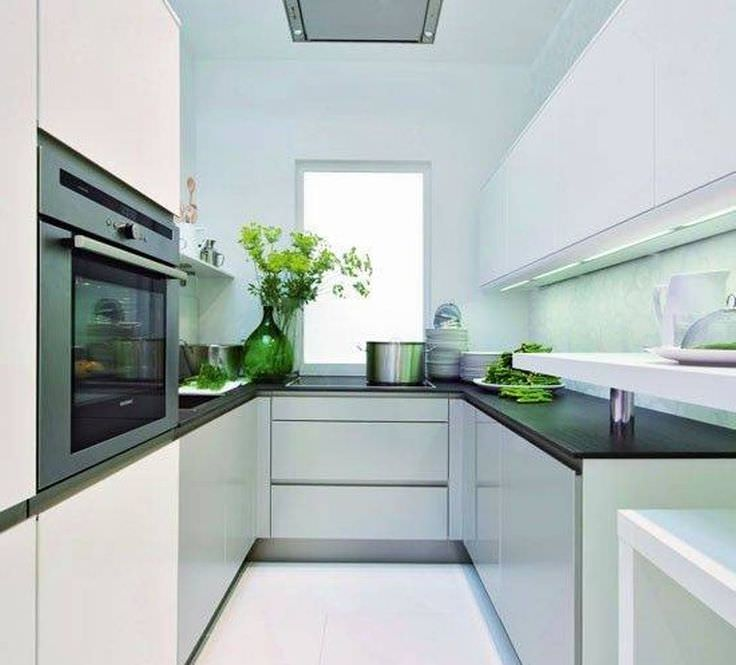 Modern Galley Kitchen Ideas: 34+ U Shaped Kitchen Designs